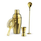 Crown: Gold Plated Barware Set by True