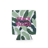 """Beach Please"" Palm Leaves Motif Can Sleeve by Blush"