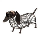 Bronze-Finish-Metal Woof Dachshund Cork Holder by True