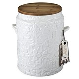 Pantry: Textured Ceramic Cookie Jar with Wood Lid by Twine®