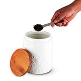 Pantry: Textured Ceramic Small Canister by Twine®