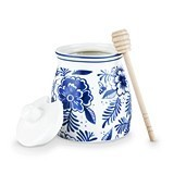 Pantry: Indigo Floral Honey Jar by Twine®