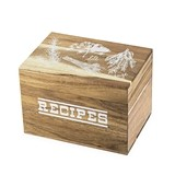 Pantry Collection Herb Garden Motif Wooden Recipe Box by Twine