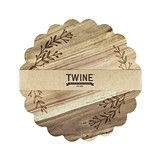 Garden Party Collection Floral-Etched Acacia-Wood Platter by Twine