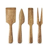 Country Home: Acacia Wood Cheese Tools by Twine (Set of 4)