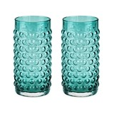 Country Cottage: Blue Hue Hobnail Glassware Set by Twine (Set of 2)