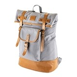 Insulated Canvas Cooler Adventure Backpack in Grey by Foster & Rye