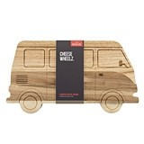 Rubber-Wood & Acacia-Wood VW Camper Van Cheese Board by Foster & Rye