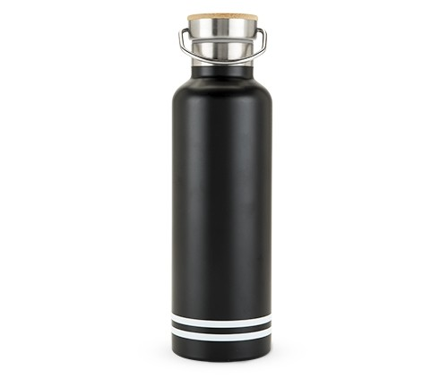 25 oz Double-Walled Stainless-Steel Black Matte Water Bottle
