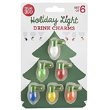 Holiday Light Glow-in-the-Dark Drink Charms by TrueZOO (Set of 6)