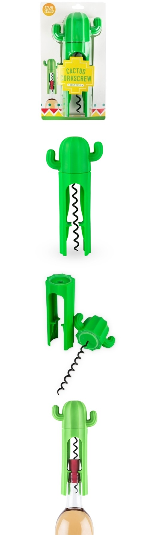 Desert Chic Cactus Design Self-Pull Corkscrew by TrueZOO