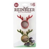 """Reinbeer"" Bottle Neck Markers by TrueZOO (Set of 6)"