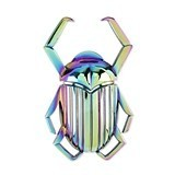 Cleo: Rainbow Mirage-Plated Scarab Beetle Bottle Opener by Blush
