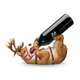 Playful Reindeer Wine Bottle Holder by True