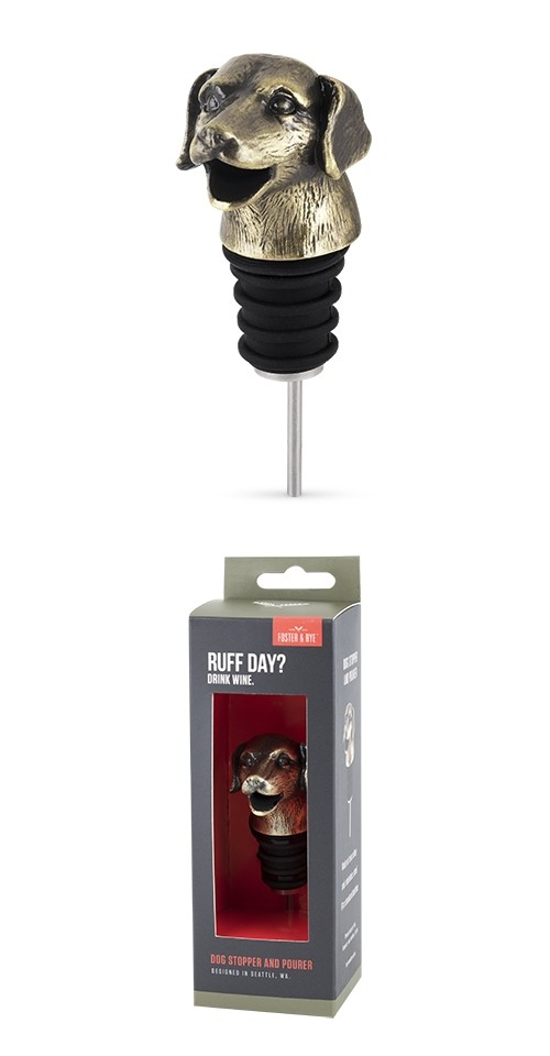 """""""Ruff Day?"""" Dog Pourer and Stopper by Foster & Rye"""