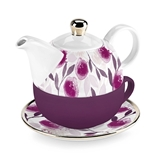 Addison™ Berry Floral Design Tea-for-One Set by Pinky Up
