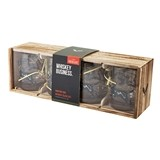 Hunting Dog Whiskey Glass Set of 4 in Wood Box by Foster & Rye