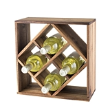 Rustic Farmhouse: Acacia-Wood Lattice Wine Rack by Twine