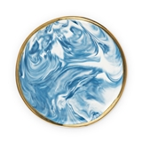 Seaside: Marbled Ceramic Plate with Electroplated Gold Rim by Twine