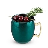 Rustic Holiday: Emerald Green Moscow Mule Mug by Twine
