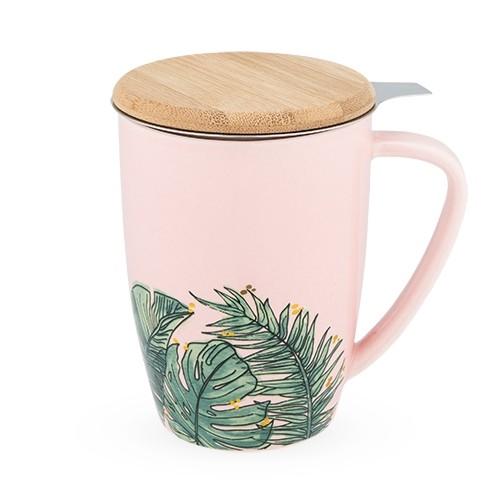 Bailey™ Tropical Ceramic Tea Mug & Infuser by Pinky Up