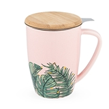 Bailey™ Tropical Ceramic Tea Mug & Infuser by Pinky Up