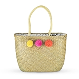 Pom Insulated Cooler Tote with Pompoms Accents by Blush