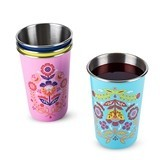 Frida: Painted Floral Enamel-Coated Tumbler by Blush (Assorted Colors)