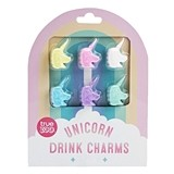 Colorful Unicorn Drink Charms by TrueZOO (Set of 6)