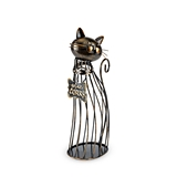 Bronze-Finish-Metal Cat Wine Cork Display