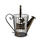 Bronze-Finish-Metal Watering Can Shaped Wine Cork Holder by True