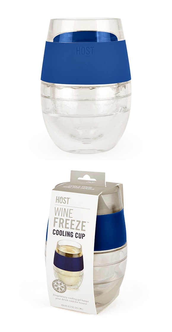 Wine FREEZE™ Cooling Cup in Blue by HOST®