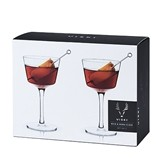 Raye: Nick & Nora Craft Cocktail Glasses by VISKI (Set of 2)