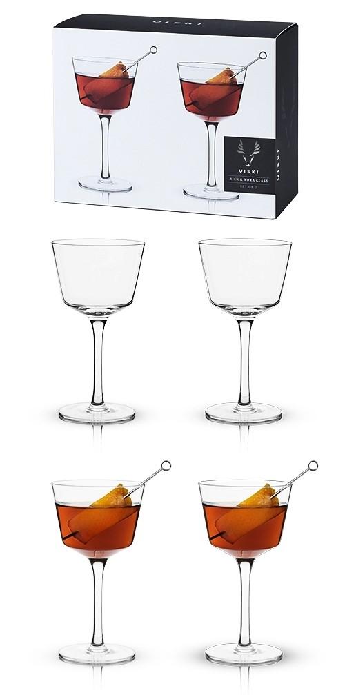 Raye: Nick & Nora Craft Cocktail Glasses by VISKI (Set of 2)