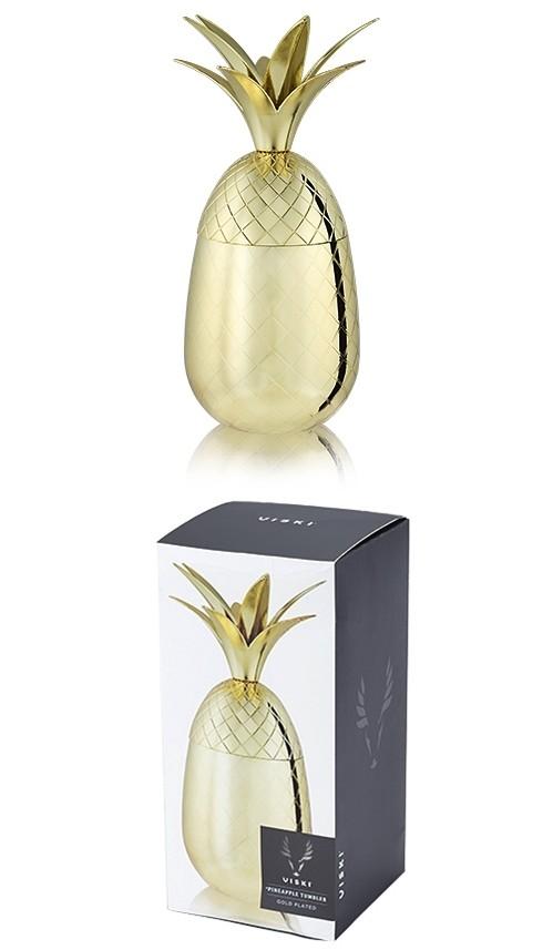 Belmont: 16 oz. Gold Pineapple Tumbler by VISKI