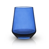 Raye: Crystal Saturated Tint Indigo Tumbler (VISKI)