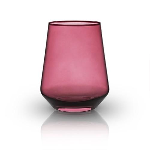 Raye: Crystal Saturated Tint Garnet Tumbler (VISKI)