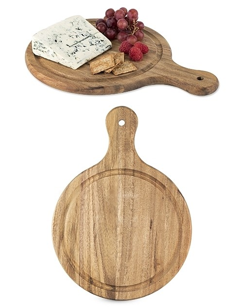 Country Home: Medium-Sized Acacia-Wood Artisan Cheese Paddle