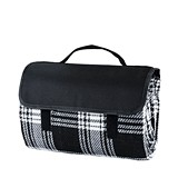 Dine™ Picnic Blanket in Black Plaid by True