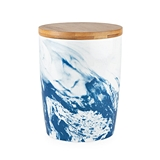 Pantry: Small Blue Marbled Ceramic Canister by Twine