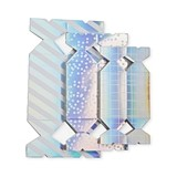 Assorted Iridescent Treat Boxes by Cakewalk (Assorted Set of 6)