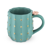 Ceramic Cactus Mug with 3D Desert Flower Accent by Pinky Up
