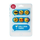 Emoji Design Silicone Drink Charms by TrueZOO (Set of 6)