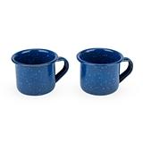 Take Your Best Shot Blue Enamel Shot Glass Set of 2 by Foster & Rye