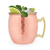 Hammered Moscow Mule Copper Mugs by True (2 Pack)