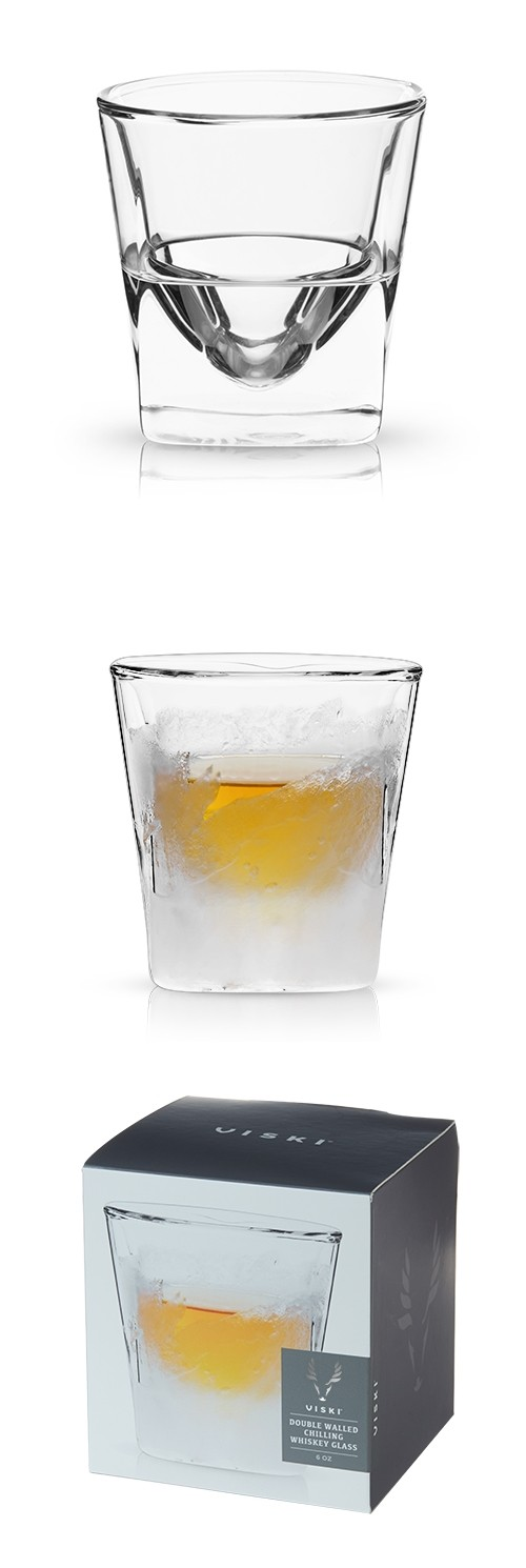 Raye™ Double-Walled Chilling Whiskey Glass by VISKI