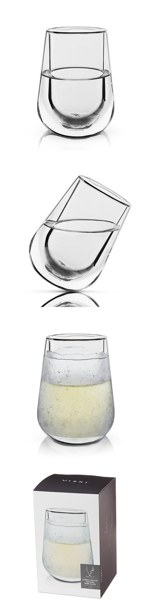 Raye™ Double-Walled Chilling Wine Glass by VISKI