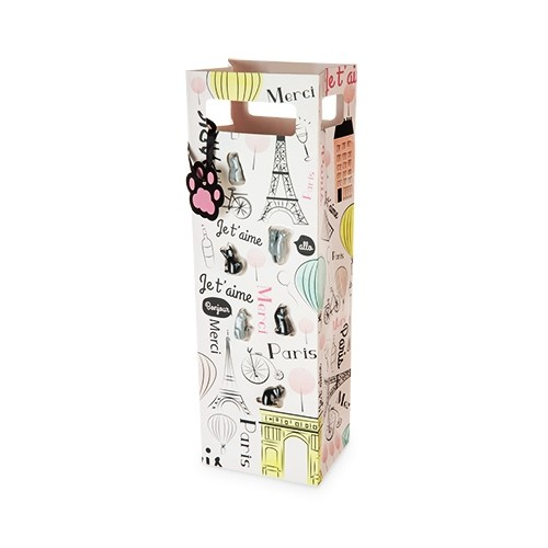 Paris-Themed Wine Bag and Silicone Cat Wine Markers by Cakewalk