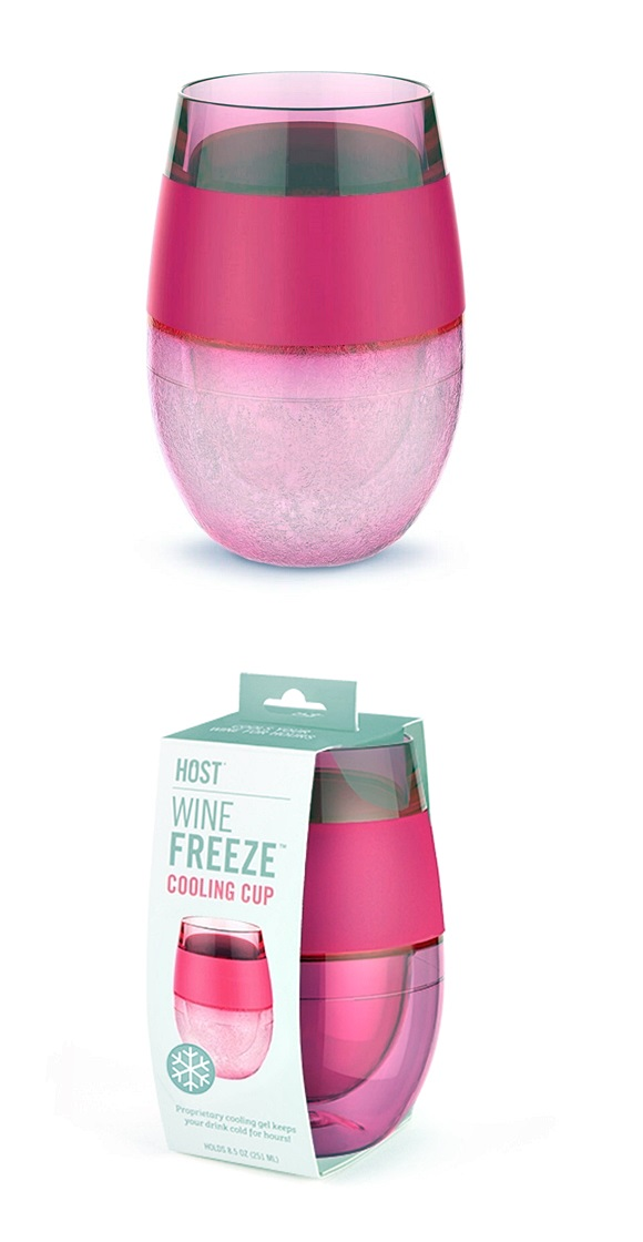 Wine FREEZE Cooling Cup in Translucent Magenta by HOST