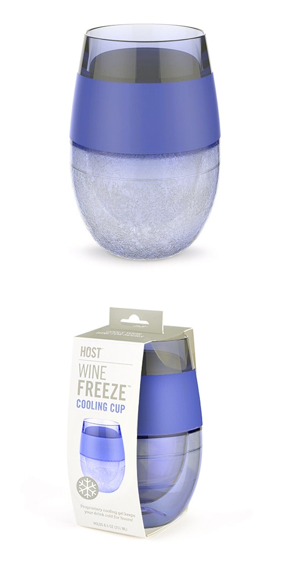 Wine FREEZE™ Cooling Cup in Translucent Purple by HOST®